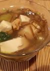 豆腐ともずくスープのゼリージュレ
