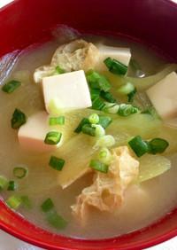 はす芋(りゅうきゅう)のお味噌汁
