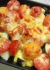 魚焼きグリルでプチトマトグラタン