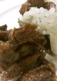 冷凍保存で牛佃煮♬おにぎりに超便利❢簡単