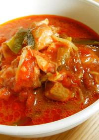 めちゃ柔らかい!鶏肉の韓国風トマト煮❀