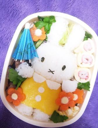 キャラ弁☆残った薄焼き卵で立体ミッフィー