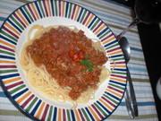 トマトたっぷりミートソースの写真
