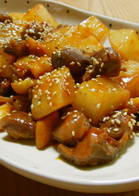 砂肝と大根のコチュジャン煮✿