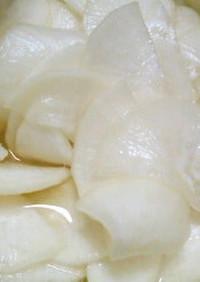 即席大根甘酢漬け鹿児島のラーメン屋漬物風