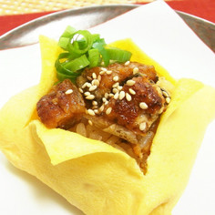 おもてなしに♪うなぎの玉子寿司