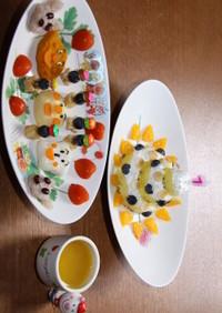 1歳の誕生日アンパンマンプレート&ケーキ