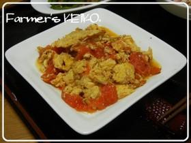 トマトと玉子の中華風炒め物
