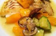 鯛と夏野菜のソテー(アクアパッツァ風)