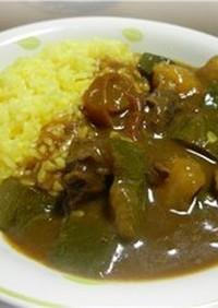 エゾシカ肉と夏野菜のカレー