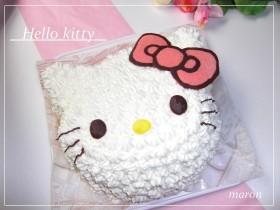 キティちゃん立体ケーキ♪【工程のみ】