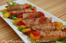 パプリカの豚肉巻き