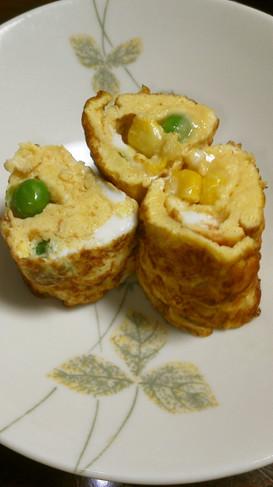 お弁当に✿ミックスベジタブルで卵焼き✿