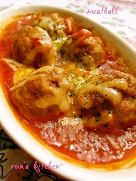 ミートボールのトマト煮チーズのせ By Runmama クックパッド