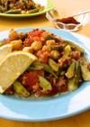 トルコの家庭料理☆オクラとひよこ豆の煮物
