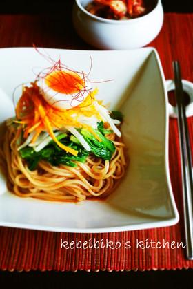 野菜ナムルと韓国万能調味料でビビン麺