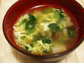 とろっと小松菜たまごの中華スープ