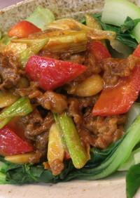 牛肉とトックのピリ辛炒めトッポギ風
