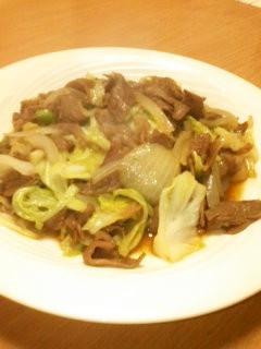 簡単!絶対美味しい牛肉キャベツ炒め