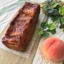 桃のキャラメルパウンドケーキ