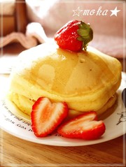 ふんわり❤分厚いパンケーキの写真
