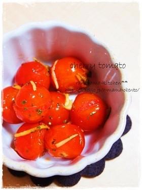 プチトマトのジンジャー炒め。