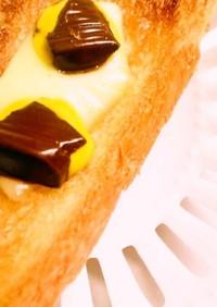 *チーズチョコトースト*