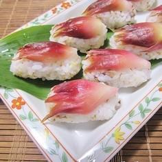 サッパリ美味しい♪ミョウガのにぎり寿司