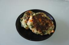 こどもごはん!豆腐と野菜のハンバーグ