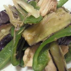 夏野菜と鶏肉のゆずこしょう炒め