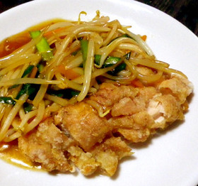 鶏の揚げ物・野菜あんかけ