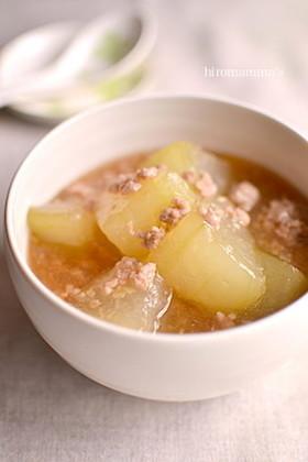 冬瓜と豚ひき肉のあんかけ煮