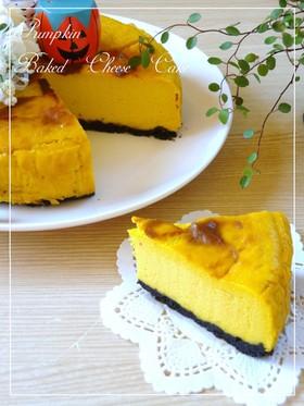水切りヨーグルト☆かぼちゃチーズケーキ