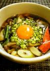 ✿キレイなお月見♬山菜蕎麦✿
