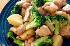 チキンとブロッコリーのガリバタ炒め♬