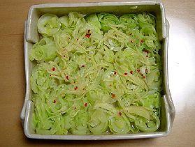 キャベツのピリピリサラダ