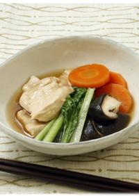 鶏むね肉を使った上品な煮物、鶏の治部煮