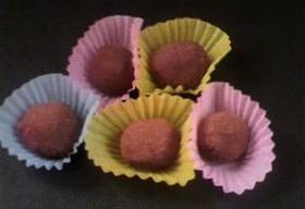 低カロリーで簡単チョコトリュフ