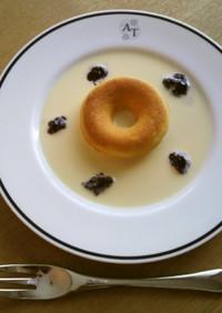 朝食にサクッ!豆乳ソースde焼きドーナツ