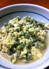 エンドウ豆の甘辛たまごとじ