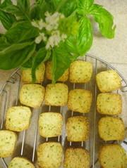 バジルとチーズと黒胡椒の大人のクッキーの写真