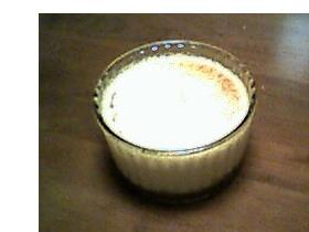 サツマイモのプリン~黒ごまシナモン風味カラメル