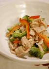 豚しゃぶしゃぶ肉の梅酒煮と野菜の和えもの