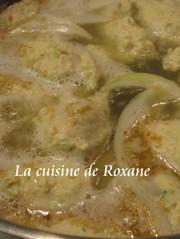 塩ちゃんこ鍋のスープとつくねの作り方の写真