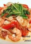 海老と小イカのトマト炒め