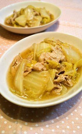 白菜と豚肉の生姜煮