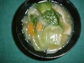 ゆで肉団子とチンゲンサイの中華風スープ