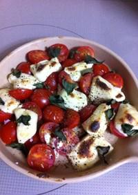 トマト&クリームチーズのオーブン焼き