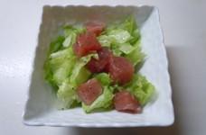 まぐろとレタスのサラダ