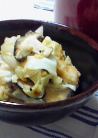 鶏とキャベツの味噌バター蒸し*